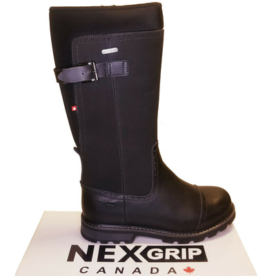 NexGrip Black Snow Barn Boot Waterproof with Retractable Ice Claw Cleats NEXX