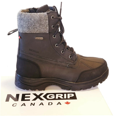 NexGrip Waterproof Insulated Mens Snow Boot with Retractable Ice Cleats NEXX