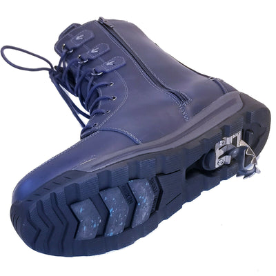 NexGrip Navy Blue Snow Boot Waterproof with Retractable Ice Claw Cleats NEXX