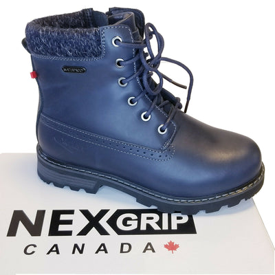 NexGrip Navy Blue Snow Bootie Waterproof with Retractable Ice Claw Cleats NEXX