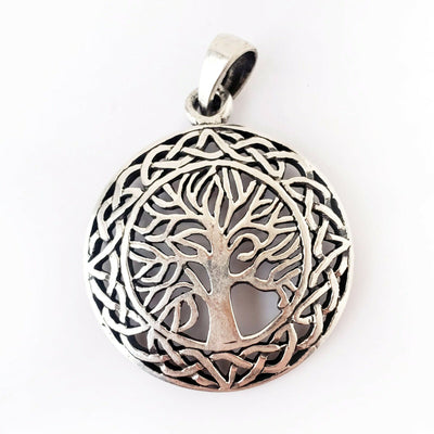 Tree of Life .925 Sterling Silver Pendant Celtic Infinity Knot Graduation Gift