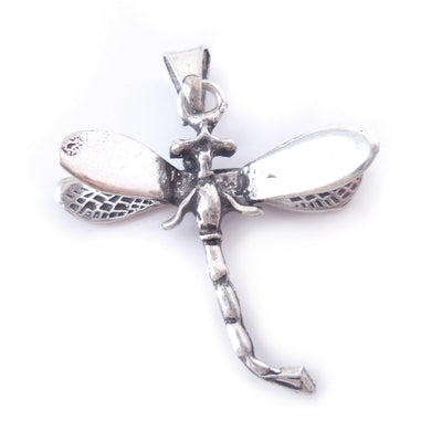 Dragonfly Charm .925 Solid Sterling Silver Pendant Jewelry Graduation Gift