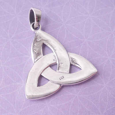Celtic Trinity Knot Amulet .925 Solid Sterling Silver Charm Graduation Pendant