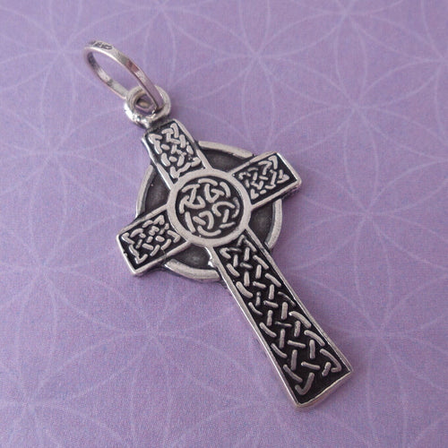 Cross .925 Sterling Silver Pendant Graduation Charm Christian Confirmation Gift
