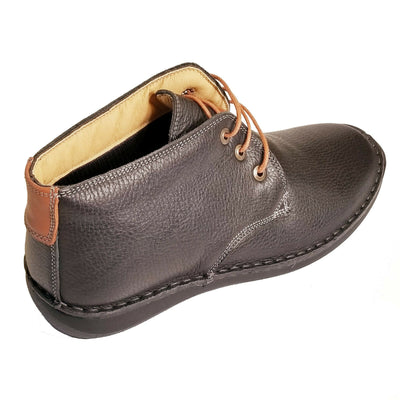 Spring Step Black Leather Mens Boots