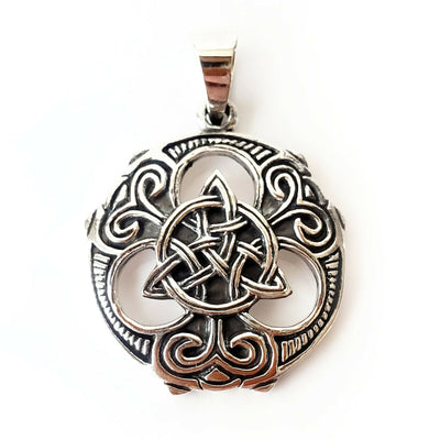 Trinity Knot 925 Sterling Silver Pendant Protection Amulet Celtic Infinity Charm