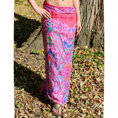 Pink Cotton Sarong Metallic Embroidered Boho Beach Wrap Gypsy Bikini Cover Up