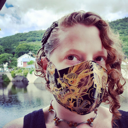 Golden Dragon Triple Layer Face Mask