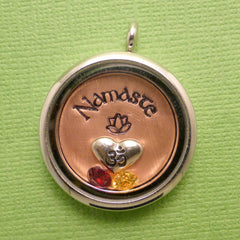 Namaste - A Floating Locket / Memory Locket / Living Locket