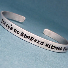 Mass Effect Inspired - There's no Shepard without Vakarian - A Hand Stamped Bracelet in Aluminum or Sterling Silver