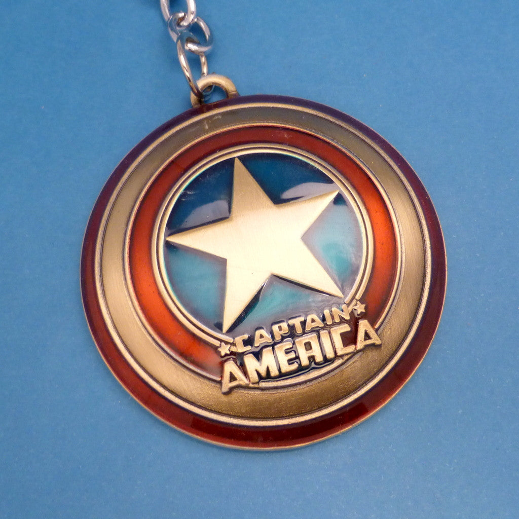 Captain America Inspired - Logo Keychain or Necklace