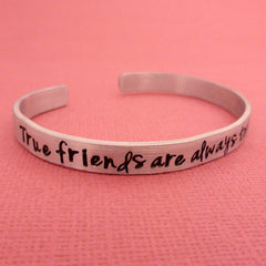 Anne of Green Gables Inspired - True friends are always together in spirit - A Hand Stamped Bracelet in Aluminum or Sterling Silver
