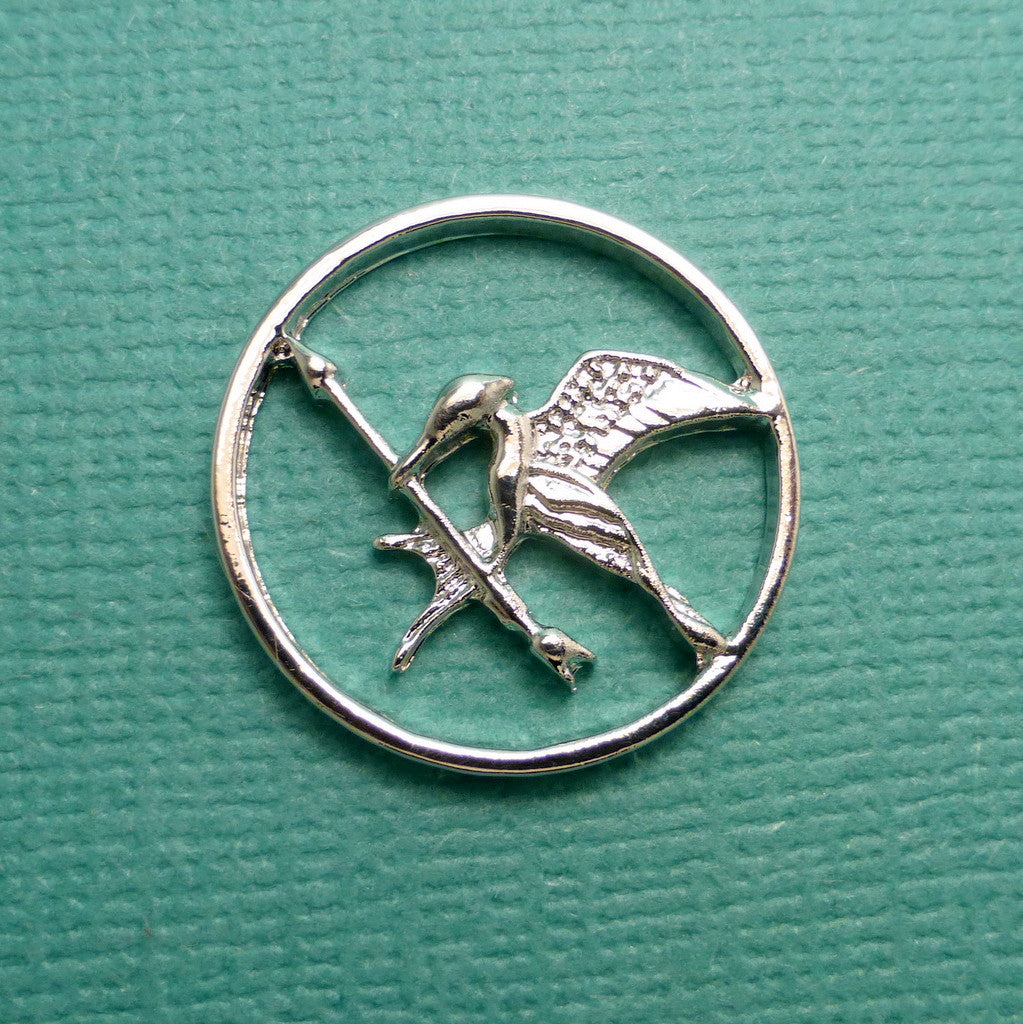The Hunger Games Inspired - Mockingjay Window Disc for Floating / Memory / Living Locket