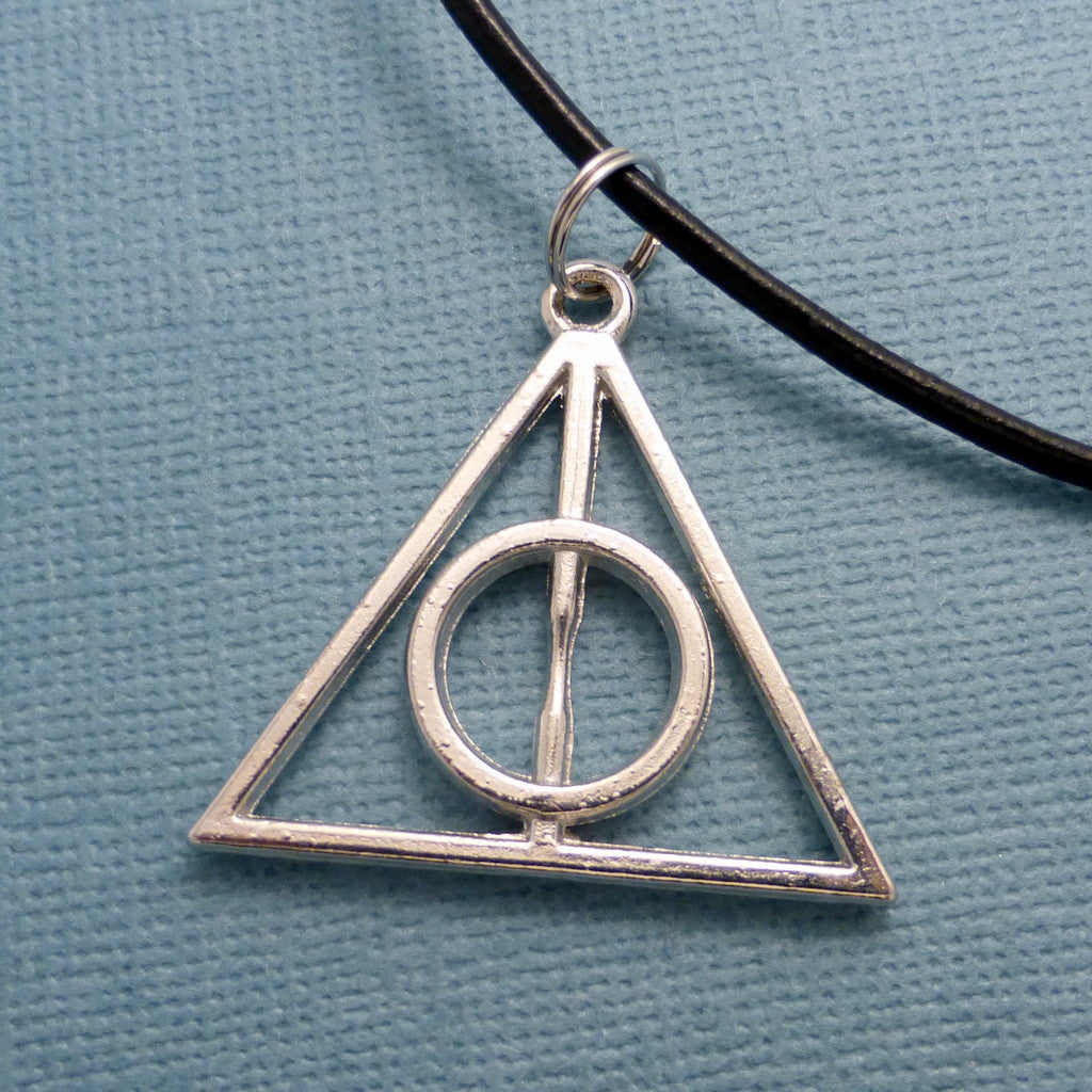 Harry Potter Inspired - Deathly Hallows Necklace or Keychain