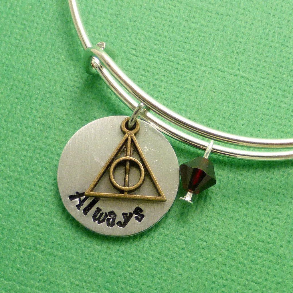 Harry Potter Inspired - Always - Adjustable Bangle Bracelet