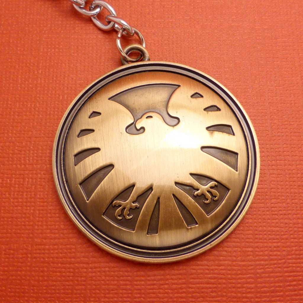 Marvel Inspired - S.H.I.E.L.D. Logo Keychain or Necklace