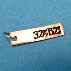 Orphan Black Inspired - 324B21 - A Hand Stamped Pendant