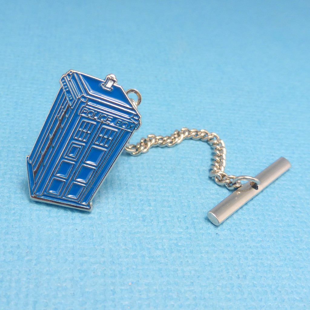 Police Box - An Enameled Tie Tack