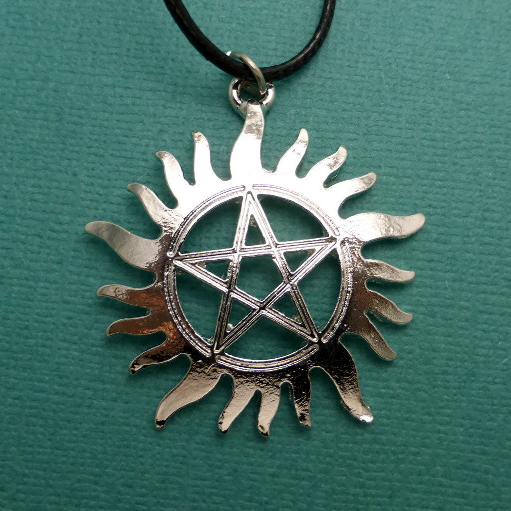 Supernatural Inspired - Anti-Possession Symbol Keychain or Necklace