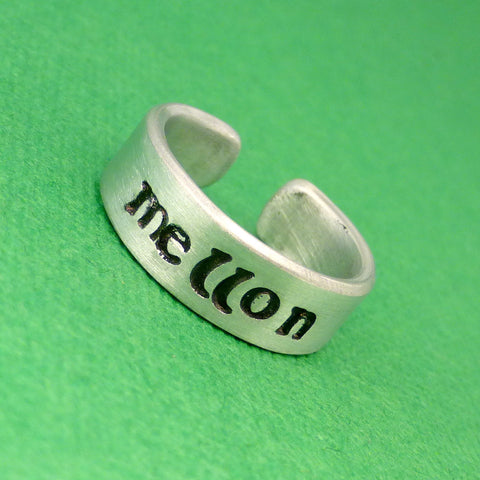 Tolkien Inspired - Mellon - A Hand Stamped Aluminum Ring