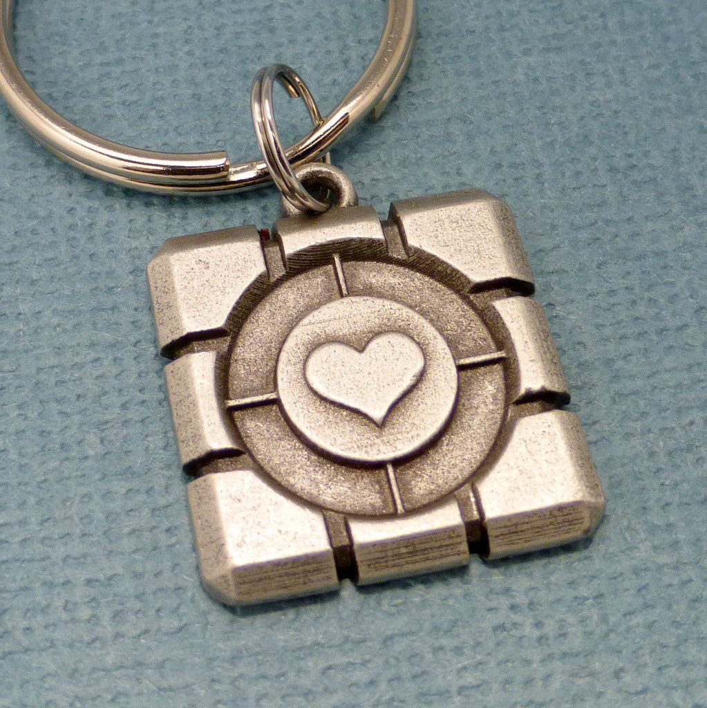 Portal Inspired - Companion Cube Keychain or Necklace