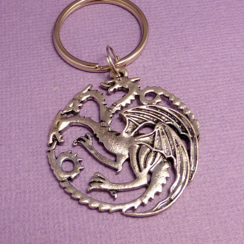 Game of Thrones Inspired - House Targaryen - Your Choice of a Keychain or Necklace