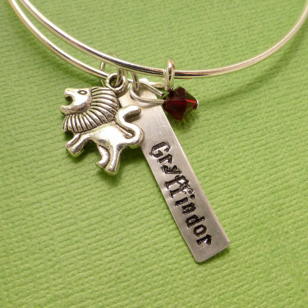 Harry Potter Inspired - Gryffindor - Adjustable Bangle Bracelet