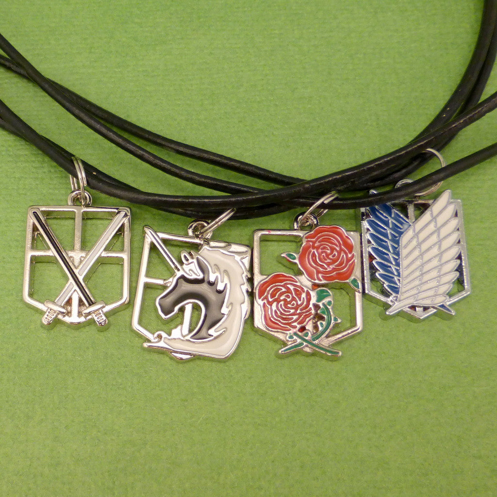 Attack on Titan Inspired - Cadets, Survey Corps, Military Police Brigade or the Garrison Regiment - CHOOSE ONE Necklace