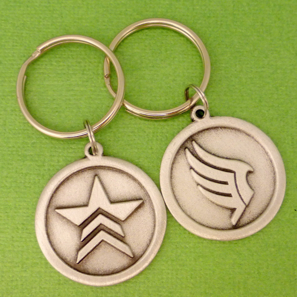 Mass Effect Inspired - Renegade or Paragon - CHOOSE ONE Keychain or Necklace