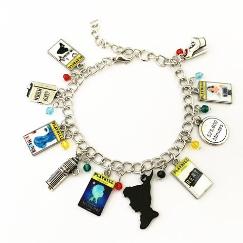 Broadway Inspired - choose Bracelet, or Individual charms Book of Mormon, Hairspray, Finding Neverland, RENT, Mamma Mia