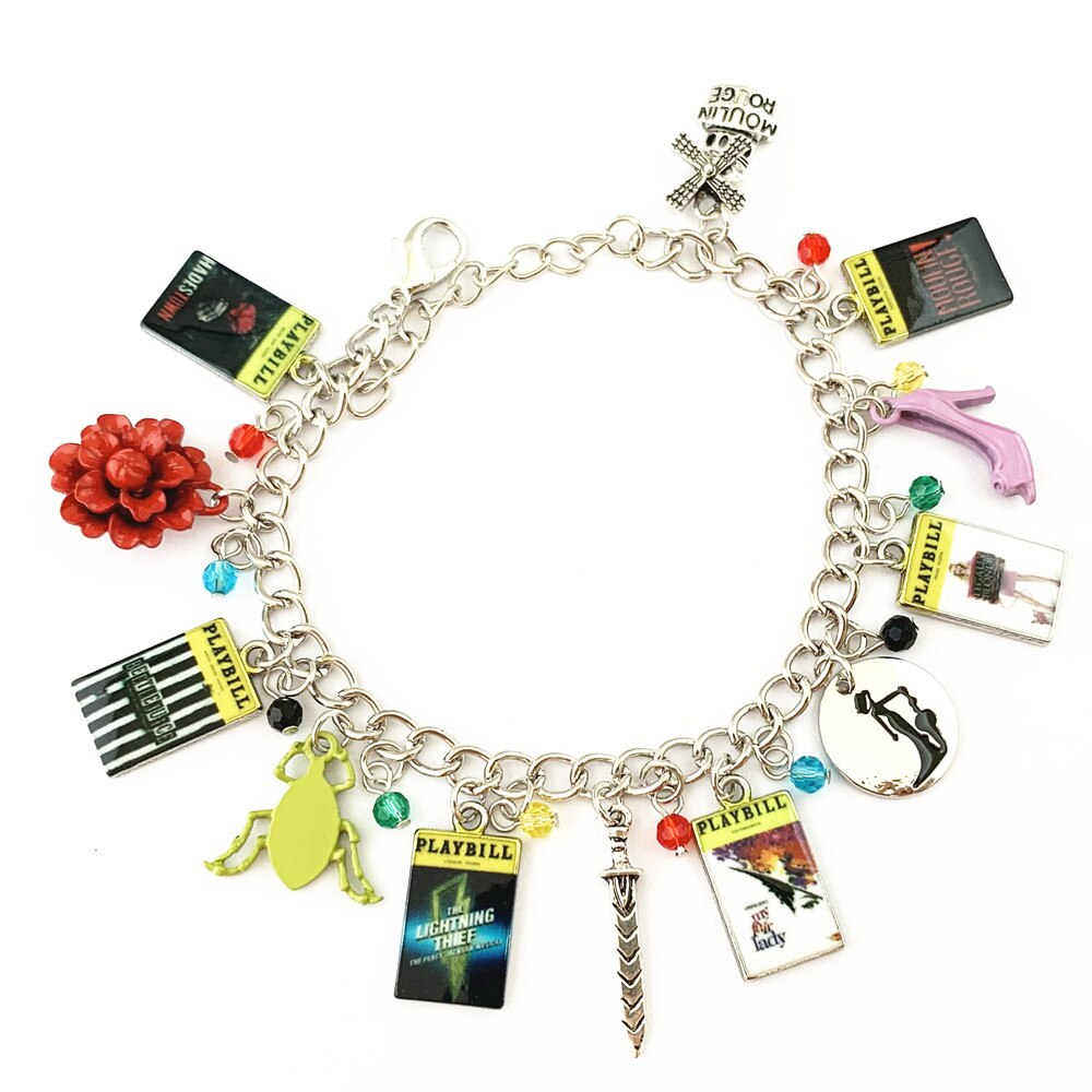 Broadway Inspired - choose Bracelet, or Individual charms Hadestown, Beetlejuice, Percy Jackson, My Fair Lady, Legally Blonde, Moulin Rouge