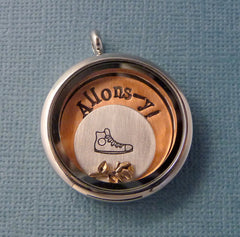 Doctor Who Inspired - Allons-y - A Floating Locket / Memory Locket / Living Locket