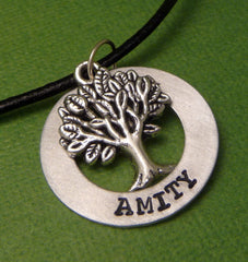 Divergent Inspired - Amity - A Hand Stamped Aluminum Washer Necklace