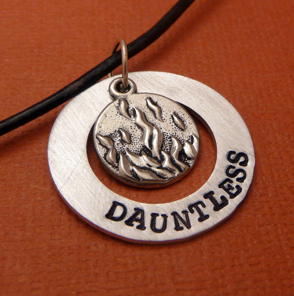 Divergent Inspired - Dauntless - A Hand Stamped Aluminum Washer Necklace