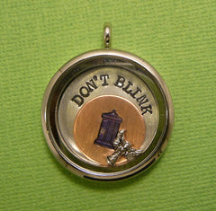 Doctor Who Inspired - Don't Blink - A Floating Locket / Memory Locket / Living Locket