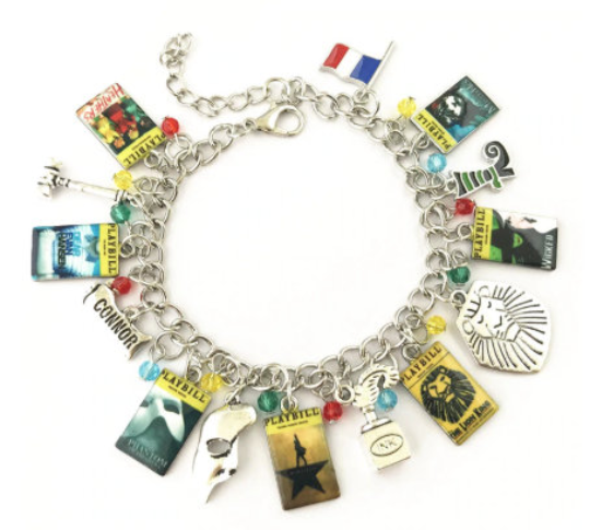 Broadway Inspired - Charm Bracelet, or Individual charm celebrating Les Mis, Dear Evan Hansen, Lion King, Heathers, & Phantom