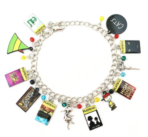 Broadway Inspired - Charm Bracelet, or Individual charm Elf, Charlie and the Chocolate Factory, Charlie Brown, High School Musical, CATS