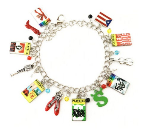 Broadway Inspired - choose Bracelet, or Individual charms Kinky Boots, Evita, The Wizard of Oz, Shrek, Fiddler on the Roof, West Side Story