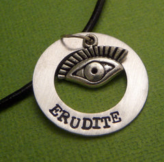 Divergent Inspired - Erudite - A Hand Stamped Aluminum Washer Necklace
