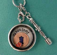Doctor Who Inspired - Geronimo! - A Floating Locket / Memory Locket / Living Locket