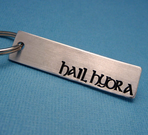 Marvel Inspired - Hail Hydra - A Hand Stamped Keychain in Aluminum or Copper