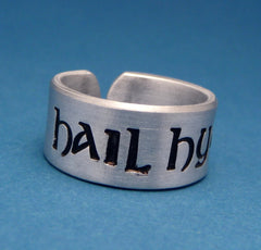 Marvel Inspired - Hail Hydra - A Hand Stamped Aluminum Ring