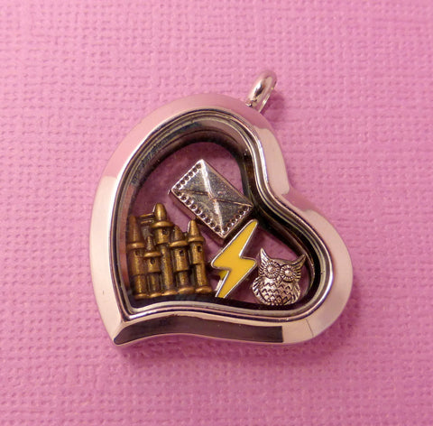 Harry Potter Inspired - Harry Potter Love - A Floating Locket / Memory Locket / Living Locket
