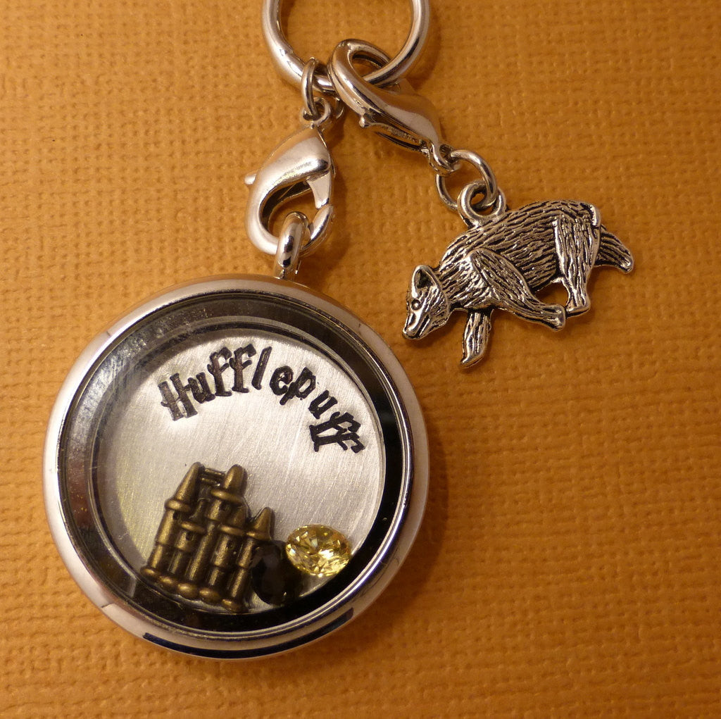 Harry Potter Inspired - Hufflepuff - A Floating Locket / Memory Locket / Living Locket