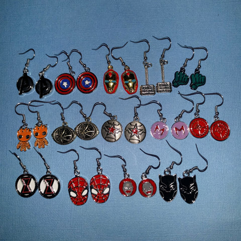 Marvel Inspired - Choose Your Avenger Earrings