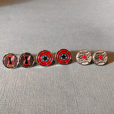 Marvel Inspired - Choose Your Avenger Stud Earrings