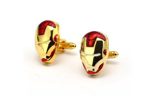 Marvel Inspired - Iron Man Helmet Cufflinks