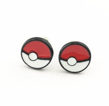 Pokémon Inspired - Poké Ball Earrings