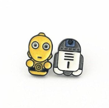 Star Wars Inspired - C-3PO & R2-D2 Earrings