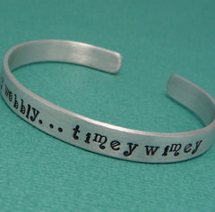 Doctor Who Inspired - Wibbly Wobbly...Timey Wimey - A Hand Stamped Bracelet in Aluminum or Sterling Silver